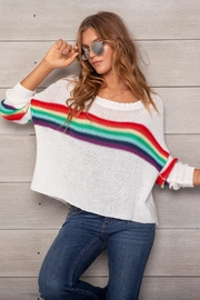 Wooden Ships Rainbow Cotton Crewneck - Product Mini Image