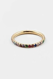 Embellish Rainbow Cz Ring - Product Mini Image