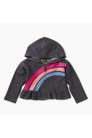 Tea Collection Rainbow Denim-like Zip Hoodie - Product Mini Image