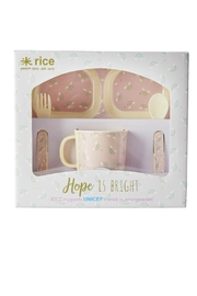 Rice DK Rainbow Dinner Set - Front cropped