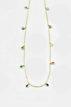 Shoptiques Product: Rainbow Drops-Sterling Necklace