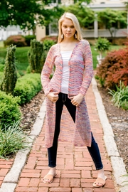 Andree by Unit Rainbow Duster Cardigan - Product Mini Image