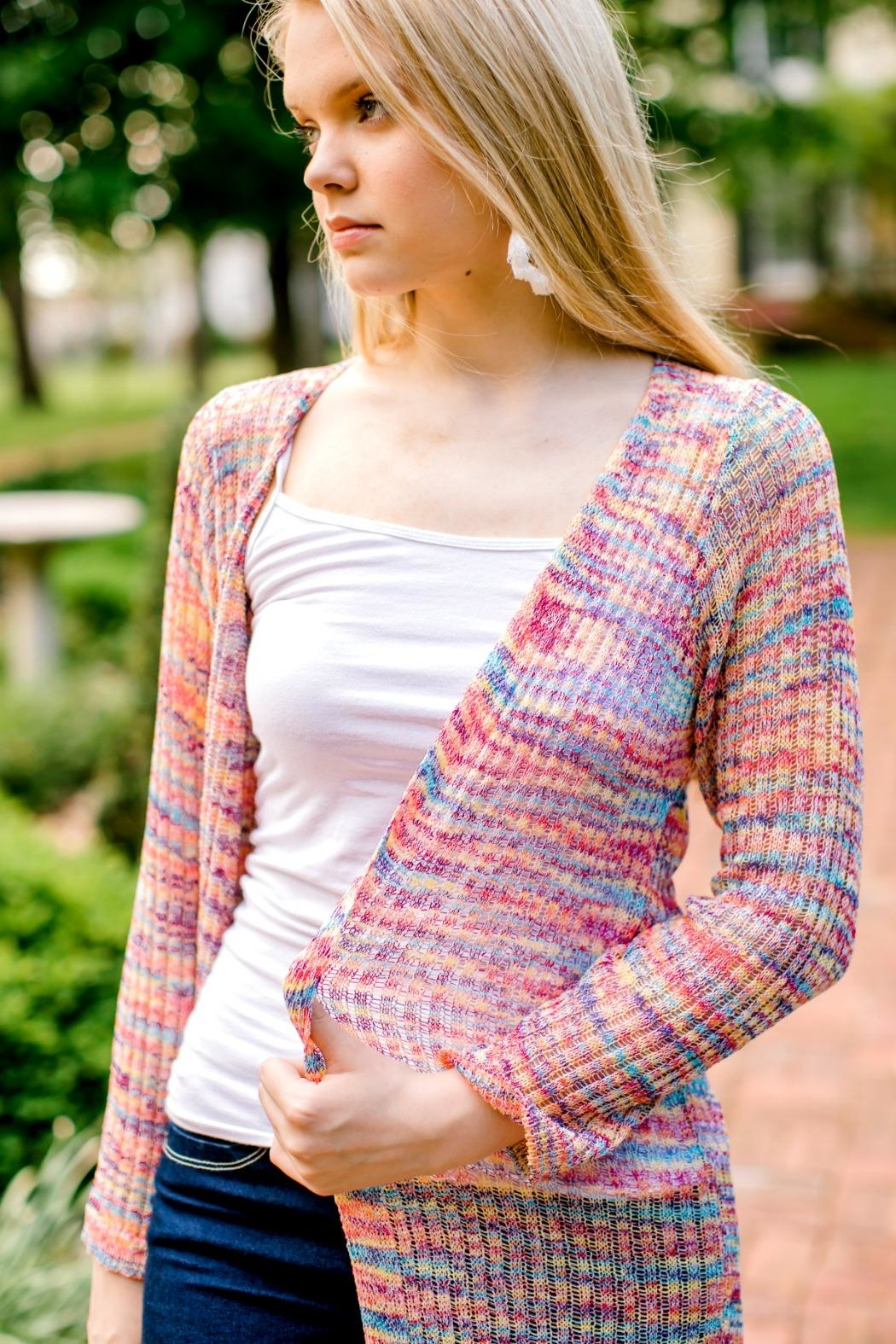 Andree by Unit Rainbow Duster Cardigan - Side Cropped Image