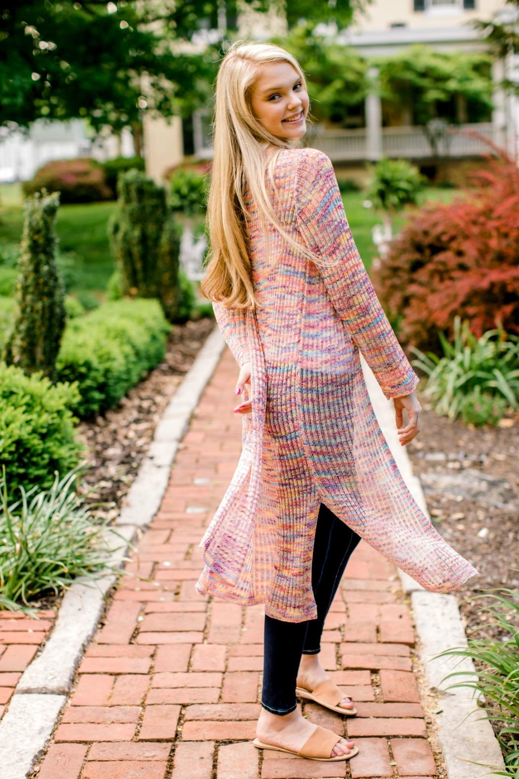 Andree by Unit Rainbow Duster Cardigan - Front Full Image