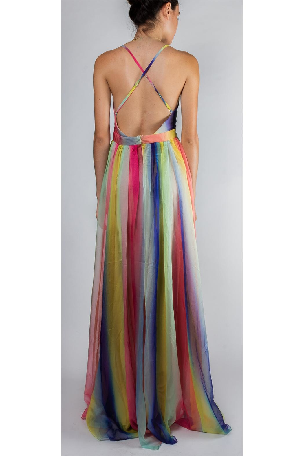 luxxel Rainbow Enchantress Gown - Back Cropped Image