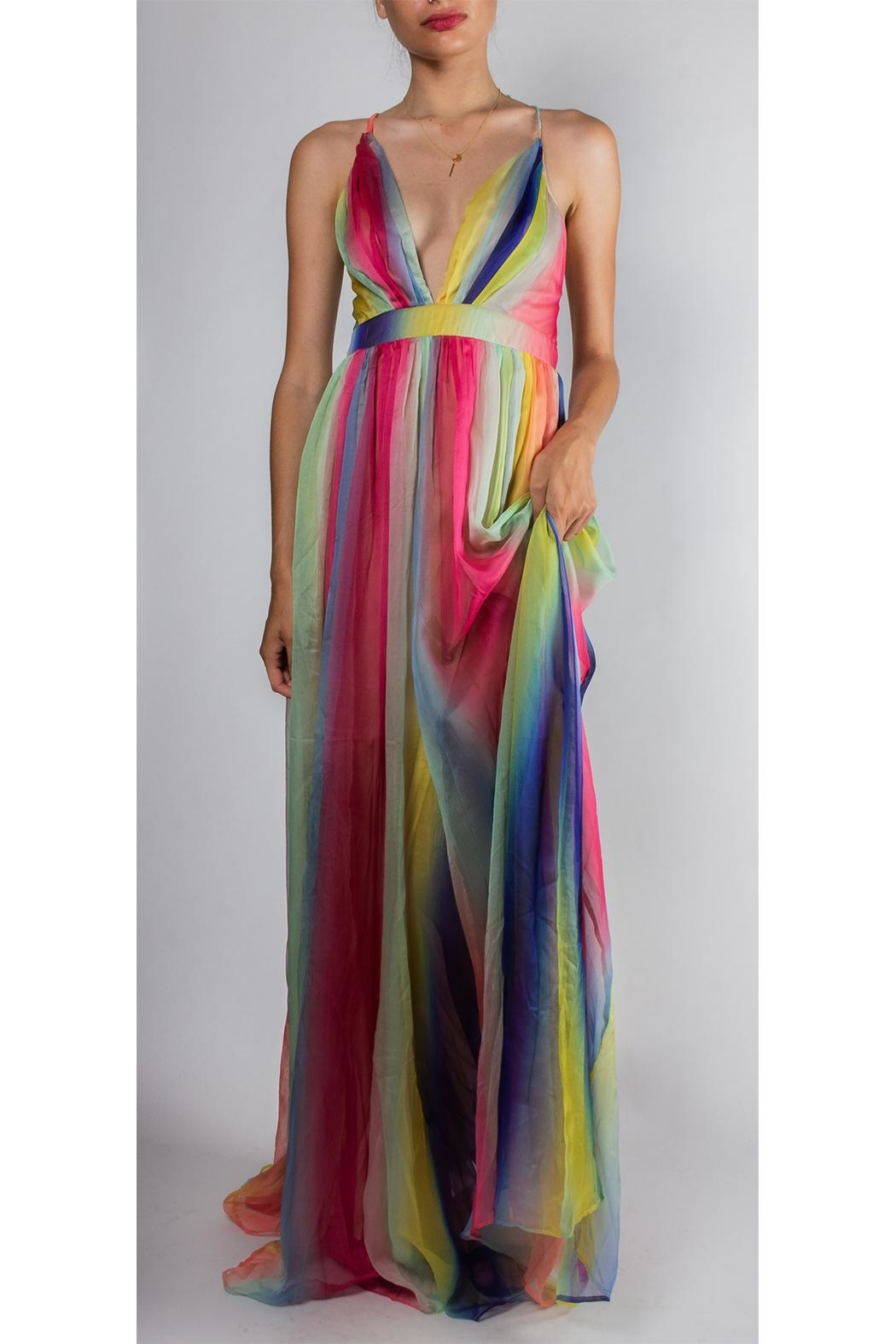 luxxel Rainbow Enchantress Gown - Front Full Image