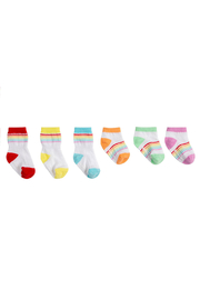Robeez Rainbow Essentials Socks 6 Pack - Front cropped