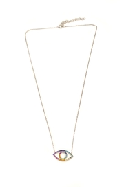 Lets Accessorize Rainbow Evil-Eye Necklace - Product Mini Image