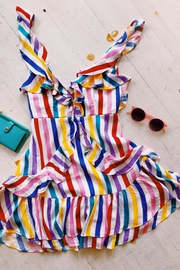 Signature 8 Rainbow Frill Dress - Front cropped