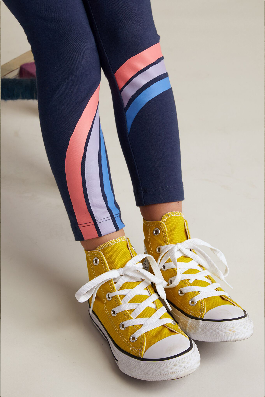 Tea Collection Rainbow Graphic Leggings - Side Cropped Image