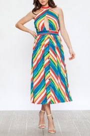 A. Calin Rainbow Halter Dress - Front cropped