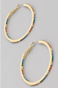 Runway & Rose Rainbow Hoops - Alternate List Image