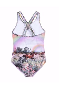 Paper Wings Rainbow Horses One Piece Swimsuit - Alternate List Image