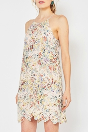 Pretty Little Things Rainbow Lace Dress - Front cropped