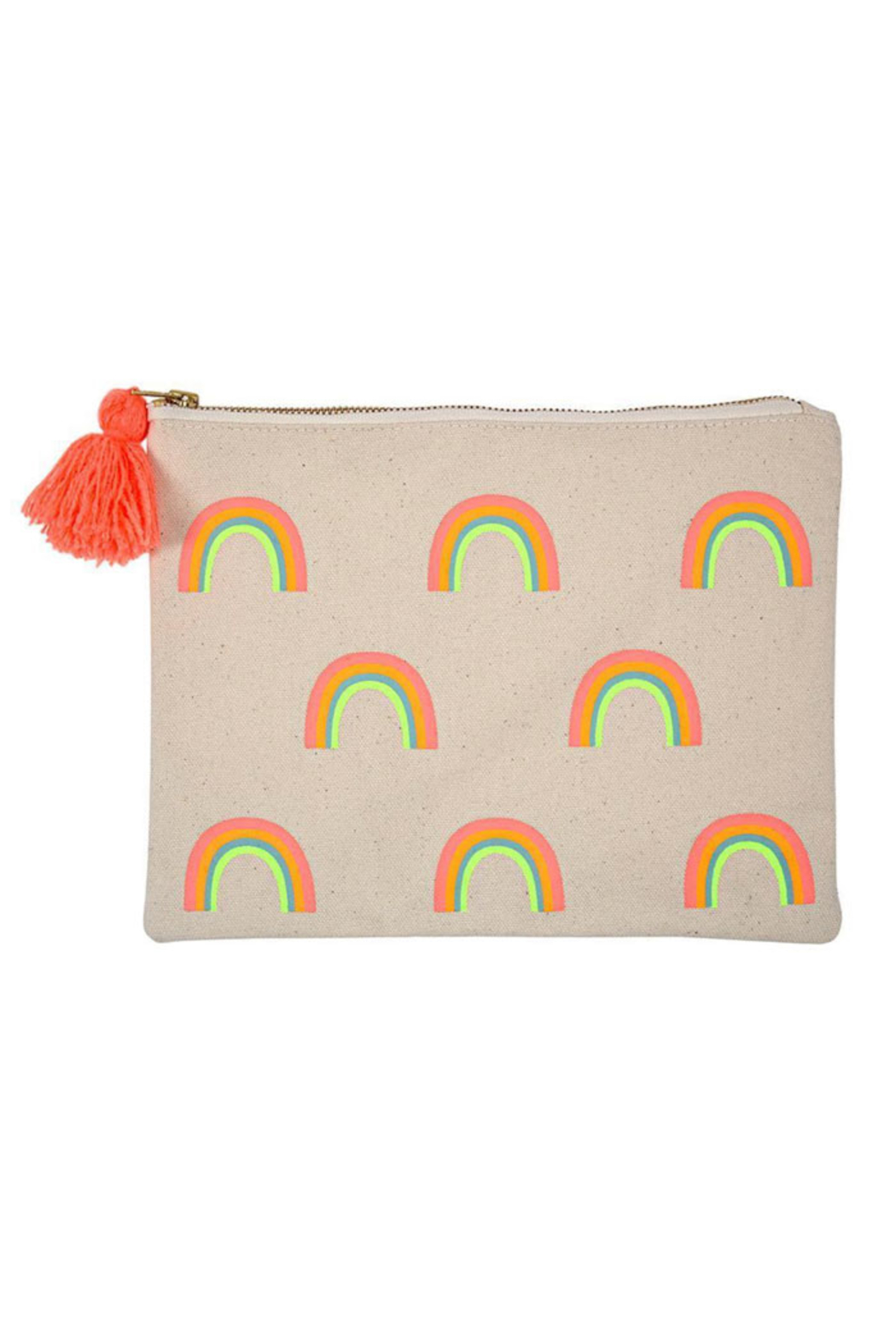 Meri Meri Rainbow Large Canvas Pouch - Front Cropped Image