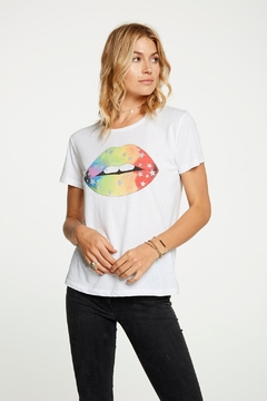 Chaser Rainbow Lips Tee - Alternate List Image