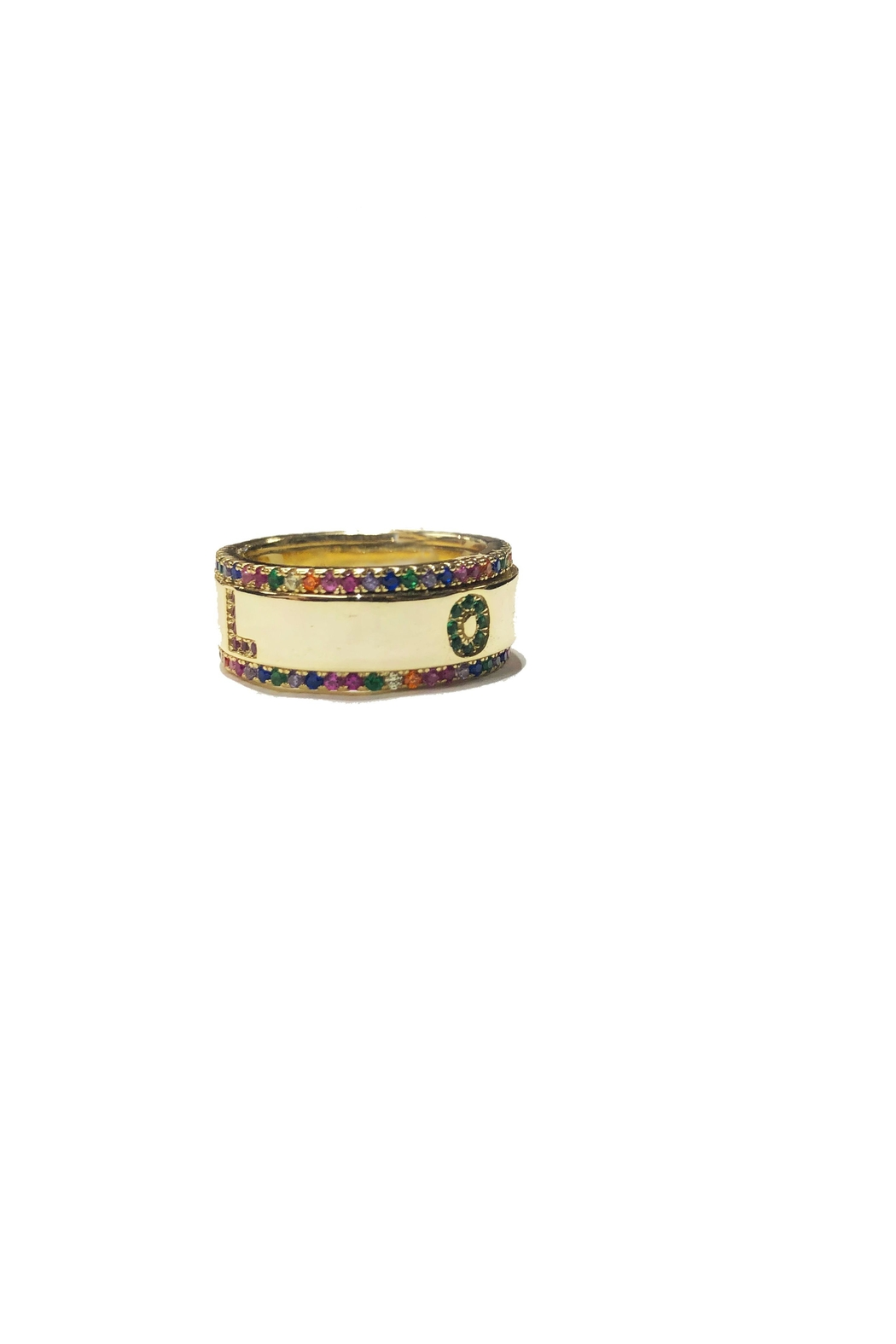 Lets Accessorize Rainbow Love Ring - Main Image