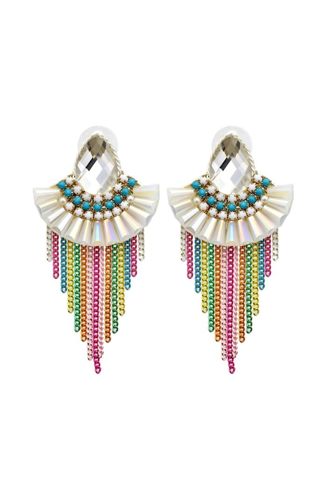 Madison Avenue Accessories Rainbow Lux Earring - Main Image