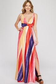 luxxel Rainbow Maxi Dress - Product Mini Image