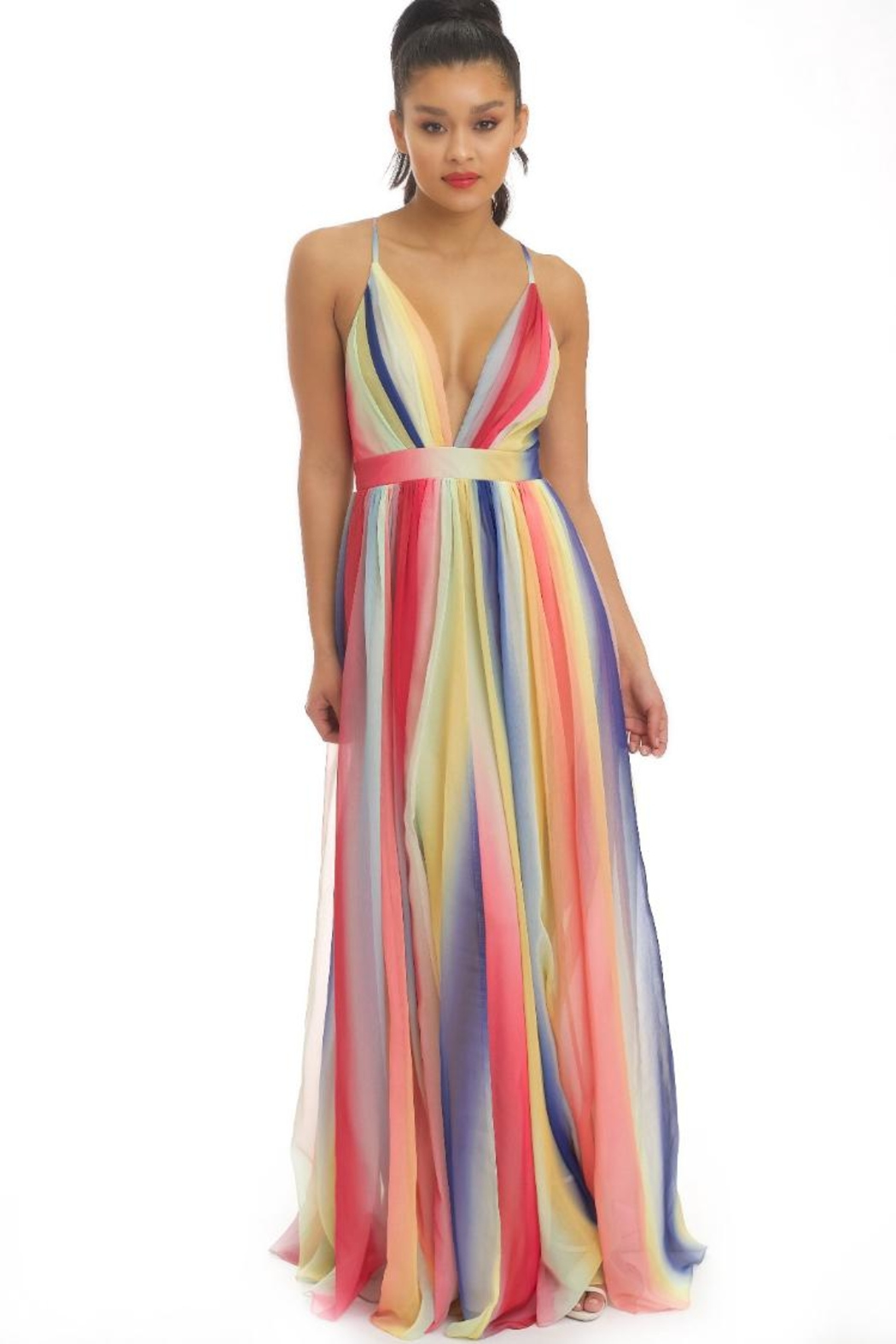 Rainbow Maxi Gown by Chikas, Los Angeles