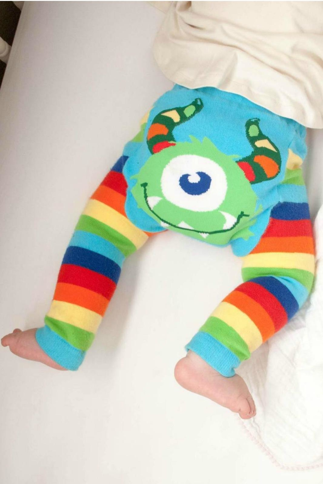 Doodle Pants Rainbow Monster Leggings - Front Cropped Image