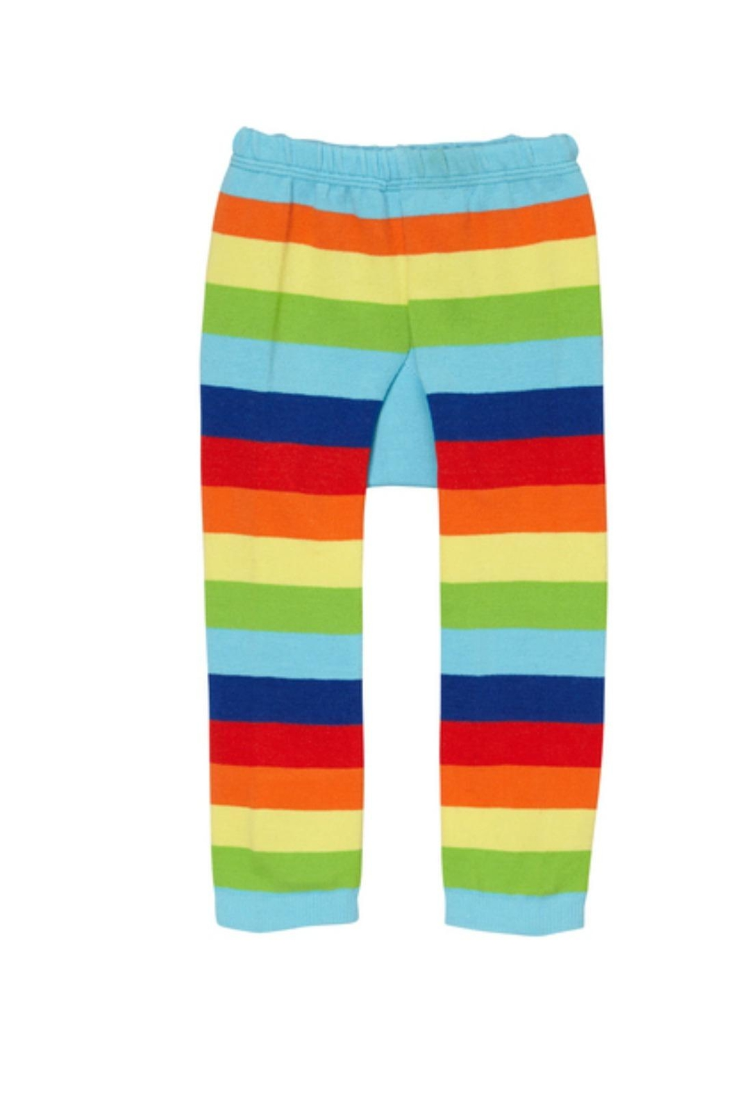 Doodle Pants Rainbow Monster Leggings - Side Cropped Image