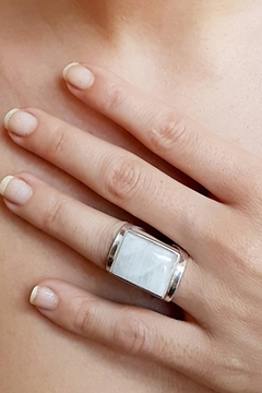 Crystal Earth Rainbow Moonstone Ring... - Alternate List Image