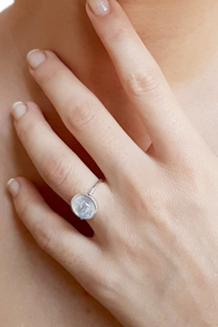 Crystal Earth Rainbow Moonstone Ring.... - Alternate List Image