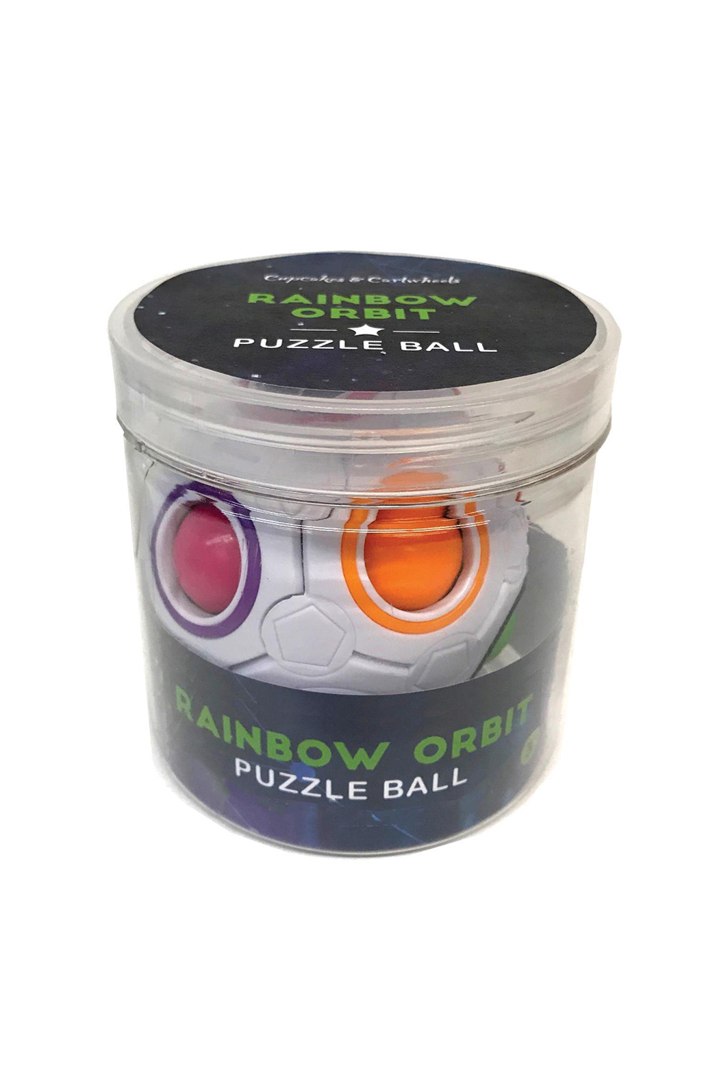 Cupcakes and Cartwheels Rainbow Orbit Puzzle Ball - Front Full Image
