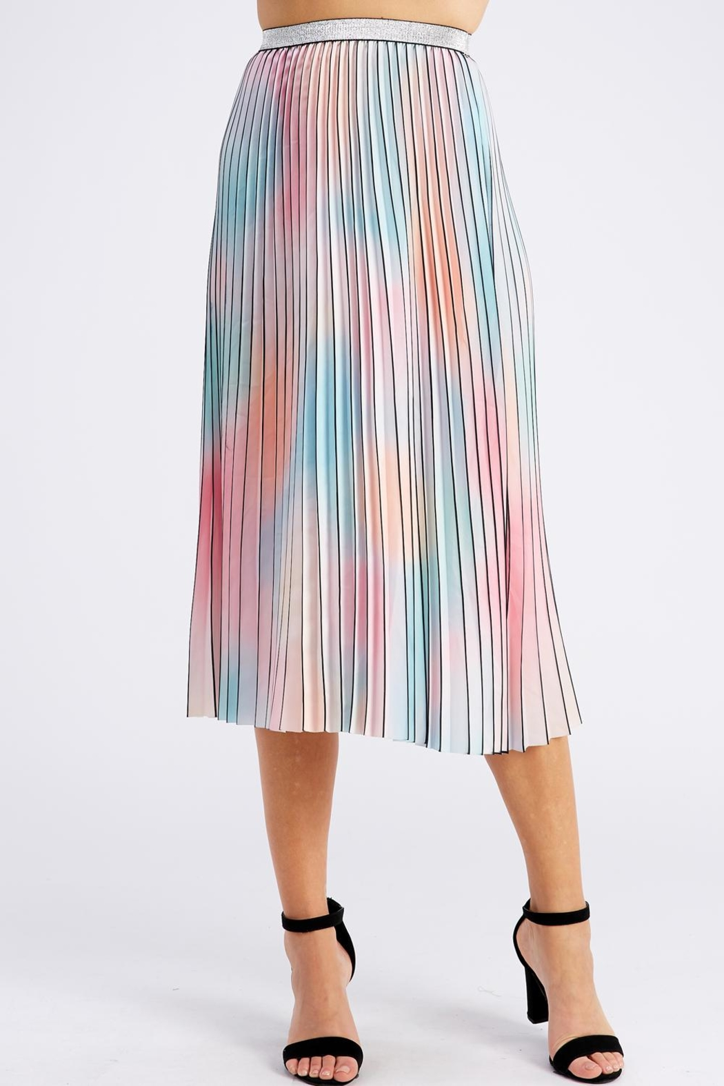 On Twelfth Rainbow Pleated Skirt - Main Image