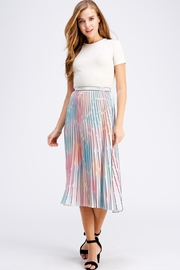 On Twelfth Rainbow Pleated Skirt - Front full body