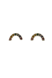 Bronwen Rainbow Post Earrings - Front cropped