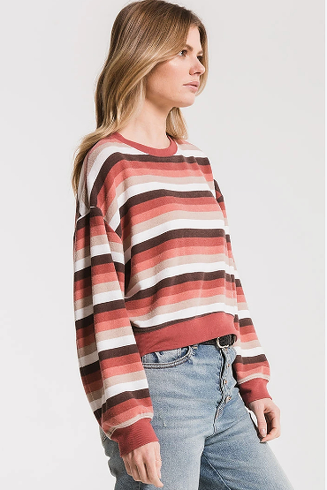 z supply Rainbow pullover - Front Full Image