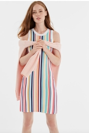 525 America Rainbow Ribbed Dress - Front cropped