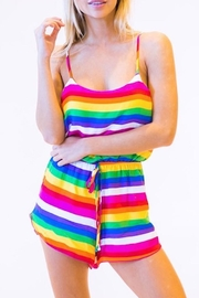 Peach Love California Rainbow Romper - Product Mini Image