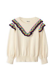 Hatley Rainbow Ruffle Sweater - Front cropped