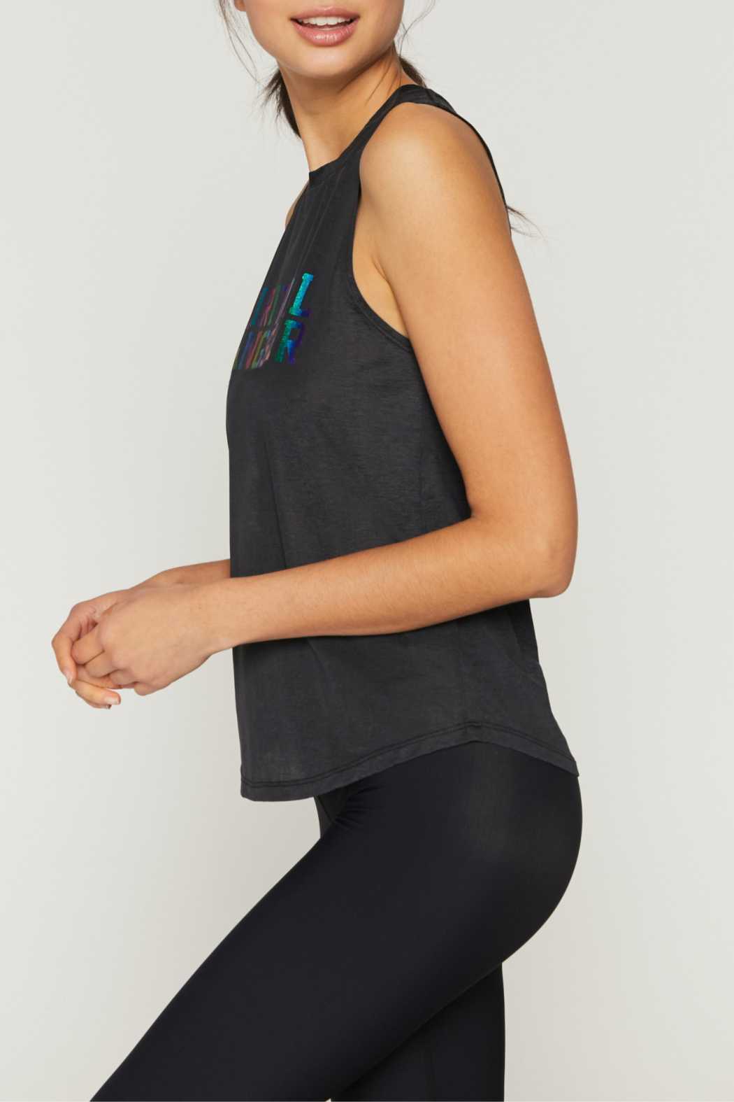 Spiritual Gangster  Rainbow SGV Active Muscle Tank - Front Full Image