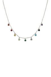Jaimie Nicole Rainbow Silver Charm-Necklace - Product Mini Image