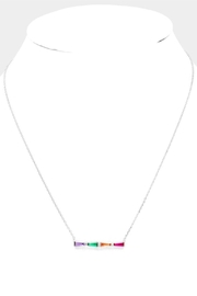 Embellish Rainbow Silver Necklace - Product Mini Image