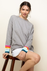 Thml Rainbow Sleeve Knit Top - Side cropped