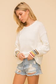 Hem and Thread Rainbow sleeve Sweater - Front cropped