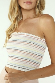 Pretty Little Things Rainbow Smocked Top - Front cropped