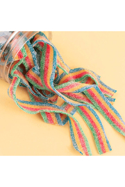 Candy Club Rainbow Sour Belts 5 oz - Front full body