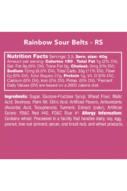 Candy Club Rainbow Sour Belts 5 oz - Side cropped