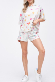 Phil Love Rainbow Star Lounge Short - Front cropped