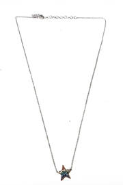 Lets Accessorize Rainbow Star Necklace - Front cropped