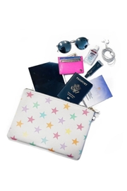 Stoney Clover Lane Rainbow Stars Pouch - Front cropped