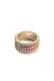 Lets Accessorize Rainbow Stone Ring - Product Mini Image