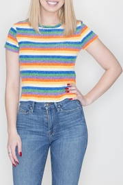 She + Sky Rainbow Strip Top - Product Mini Image