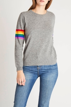 Shoptiques Product: Rainbow Stripe Crew